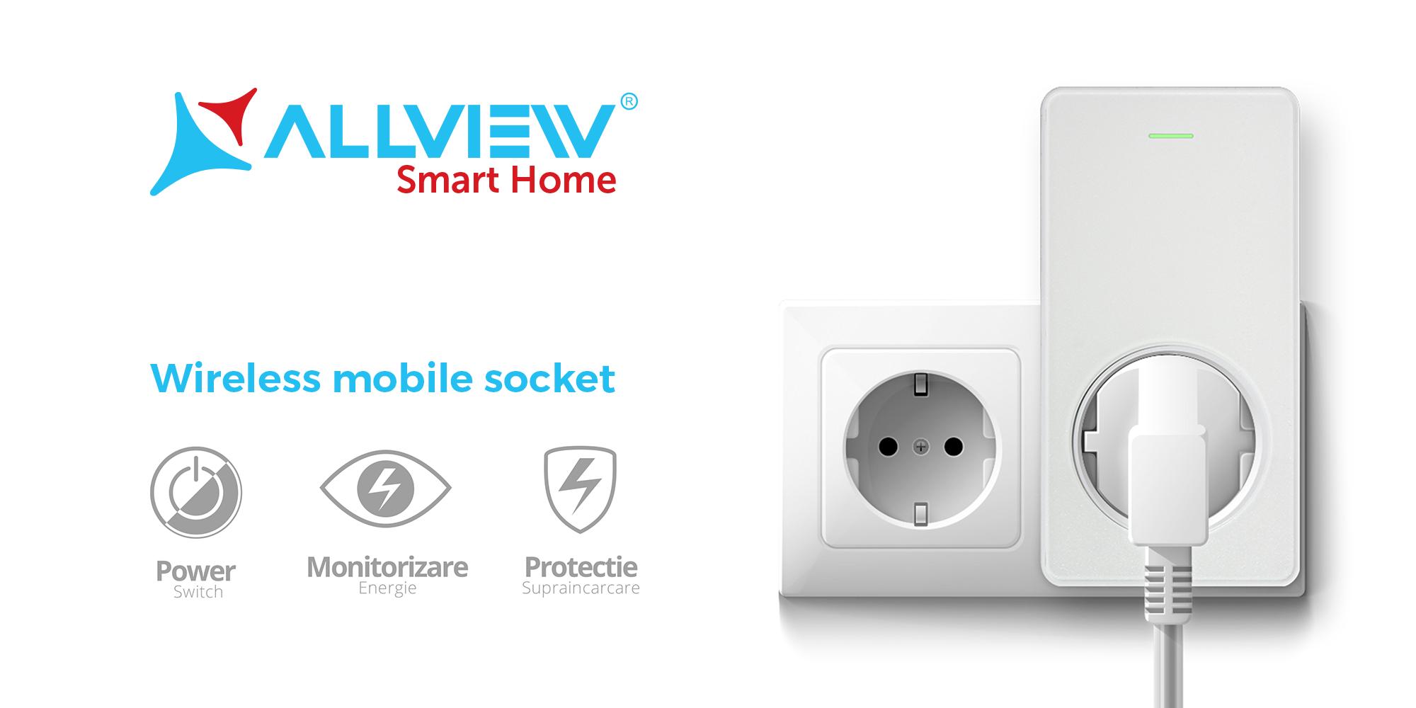 Allview consolidează portofoliul dedicat pieței de sisteme smart home  și lansează prizele inteligente