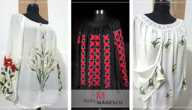 Bluze cu broderie manuala, pentru femei cu adevarat speciale